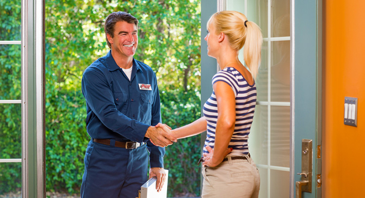 Representative providing a free in-home estimate and consultation.