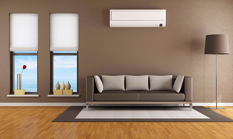 Modern Hamilton home with ductless mini-split heat pump.