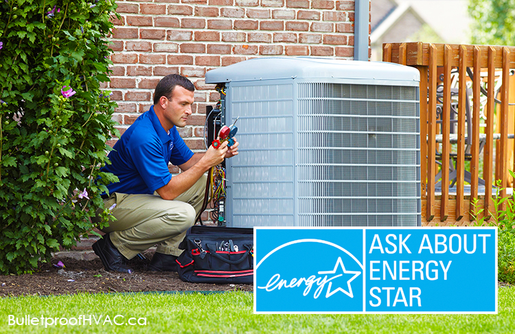 A new ENERGY STAR central air conditioner.